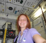 My typical makeup-free self, enjoying the ESA SpaceTweetup.