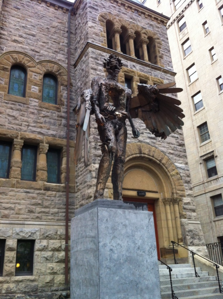 Creepy Statue in Montreal